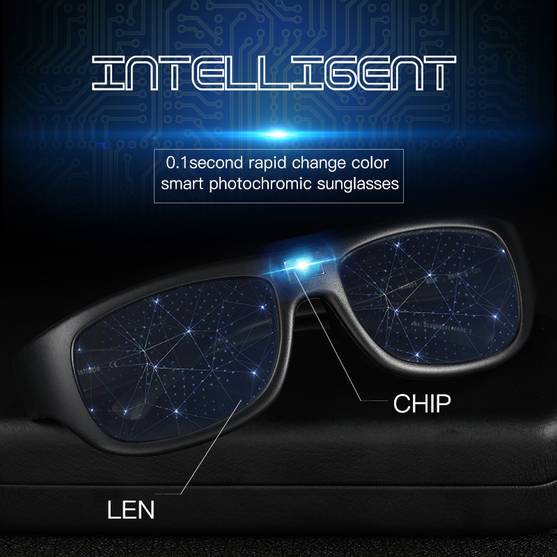 Auto Adjustable Dimming Sunglasses Men Polarized Photochromic Auto Darkenning Discoloration Chameleon Sun Glasses Driving UV400 2