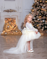 2020 Baby Baptism Dress Lace Princess Gown Summer Infant Birthday Dress Christmas Party Dress 2 3 4 5 6 8T