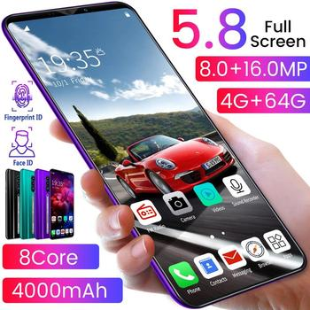 Rino3 Pro 5.8 Inch Screen Android Phone Purple Water Drop Screen Smartphone Solid Color Mobile Phone Cool Shape Fashion dropship