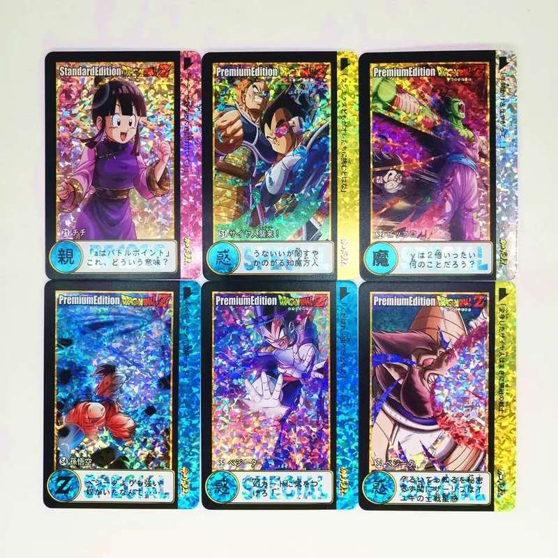 27pcs/set Dragon Ball Z Super Saiyan Goku Vegeta Game Action Figures Commemorative Edition Collection Cards Free Shipping Limit