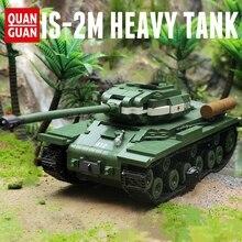 New 1068pcs Military WW2 Soviet IS-2M Heavy Tank Soldier Weapon Building Blocks Model  High-tech City Toys