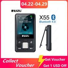 RUIZU X55 Clip Sport Bluetooth MP3 Player 8GB Mini mit Bildschirm Unterstützung TF Karte, FM, Aufnahme, e-buch, Uhr, Schrittzähler Musik Player