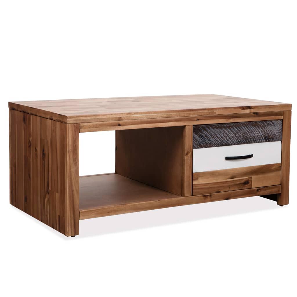 VidaXL Coffee Table Solid Acacia Wood 90x50x37.5 Cm