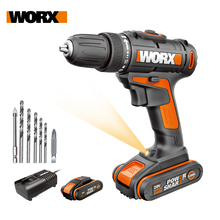 Drill-Driver Impact-Drill Cordless Worx 20v Power-Tools Rechargeable Household WX101.1