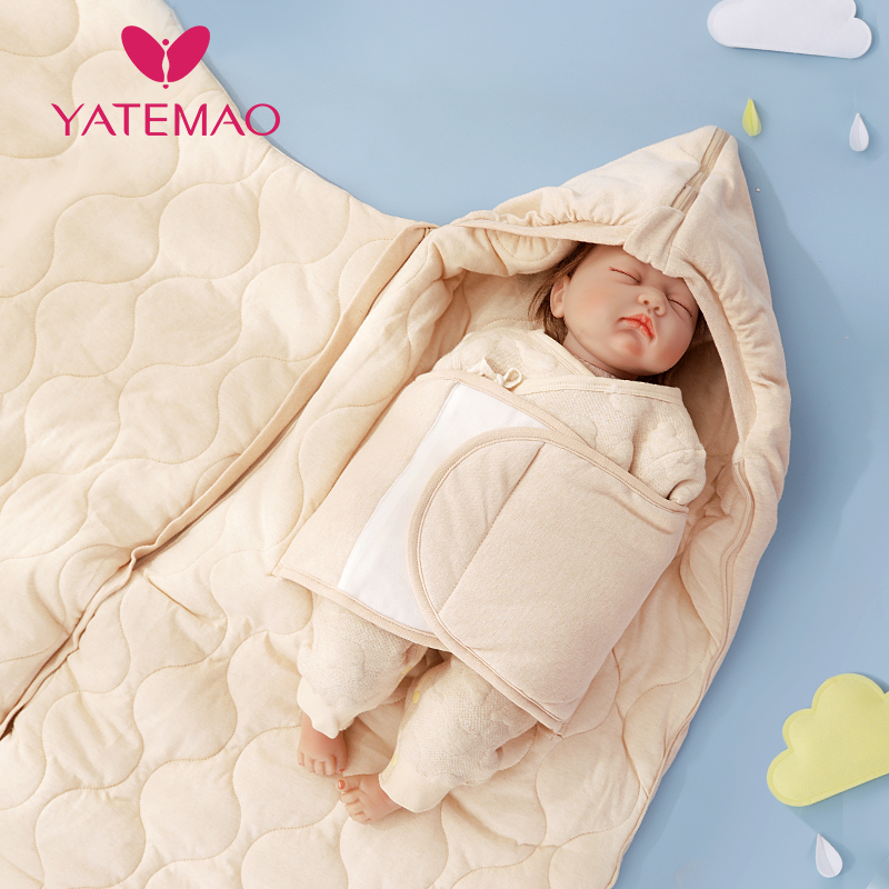 YATEMAO Newborn Baby Winter Warm Sleeping Bags Infant Button Knit Swaddle Wrap Toddler Swaddling Blanket Sleeping Bags  0-12M