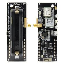 Módulo sem fio com bluetooth, módulo sem fio esp32 gps NEO 6M sma musi 32 18650 de bateria com softrf t beam v1.1 esp 32 433/868/915mhz