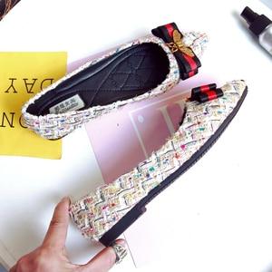 Image 3 - Zapatos De Mujer Zapatos kadın ayakkabı Femmes Chaussures Rhinestone arı sivri daireler ayakkabı kadınlar için 2020 Zapatillas Mujer