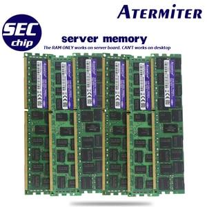 Image 4 - Atermiter X79 כפולה X79 E ATX מעבד האם שילובי 2 × Xeon E5 2689 4 × 8GB = 32GB 1600MHz PC3 12800 DDR3 ECC REG זיכרון