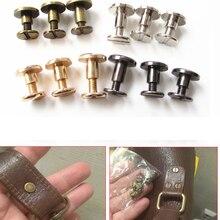 Лидер продаж 20 шт. 5 мм/6,5 мм/8 мм чемодан кожа металл ремесло Твердые винты гвозди заклепки двойной изогнутый головной ремень/ремень заклепки...