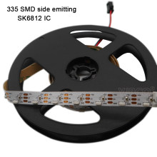 DC5V 1 M/5 M WS2812 Adresseerbare 60 Leds/M SK6812 Ic Gecontroleerde Side Emitting 335 Digitale Led strip Wit Pcb IP30(China)