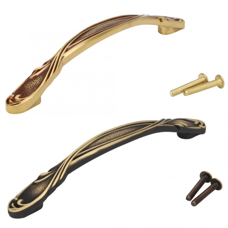 Chinese Style Brass Kitchen Cabinet Handles Double Hole Cabinet Wardrobe Drawer Door Pulls Furniture Hardware Accessories