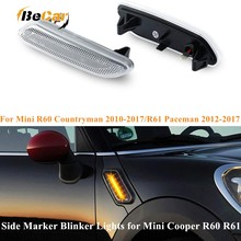 Becar 2 Pcs Richtingaanwijzer Dynamische Led Side Marker Licht 12V Side Repeater Lamp Panel Lamp Voor Bmw mini Cooper R60 R61 10 17