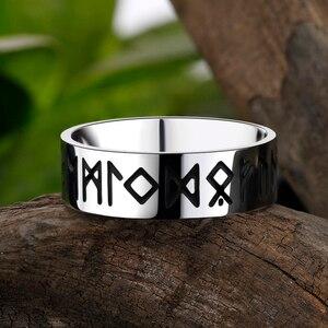 316L нержавеющая сталь один норвежский викинг амулет Руна для мужчин кольцо Мода слова Ретро Кольца Ювелирные изделия пара Святого Валентина дней подарок|Кольца для помолвки|   | АлиЭкспресс