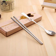 Two Piece A Set Spoon Tableware Travel Cutlery Creative Portable Chopsticks Household Daily Necessities