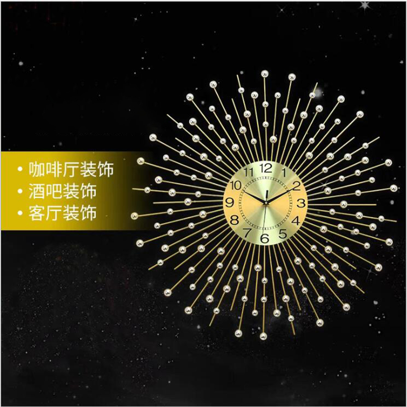European Creative Wall Clock Wrought Iron Decorative Clocks Living Room Clock Wall Clock Shabby Chic Best Selling 2018 Products