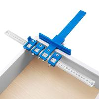 Power Tools localizador de punzón, funda de guía de broca accesorios del armario plantilla, plantilla espiga de perforación de madera para instalación de asas
