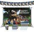 Украшения для дня рождения Юрского периода Legoing, тематические поставки в тематическом парке динозавров, баннерные чашки