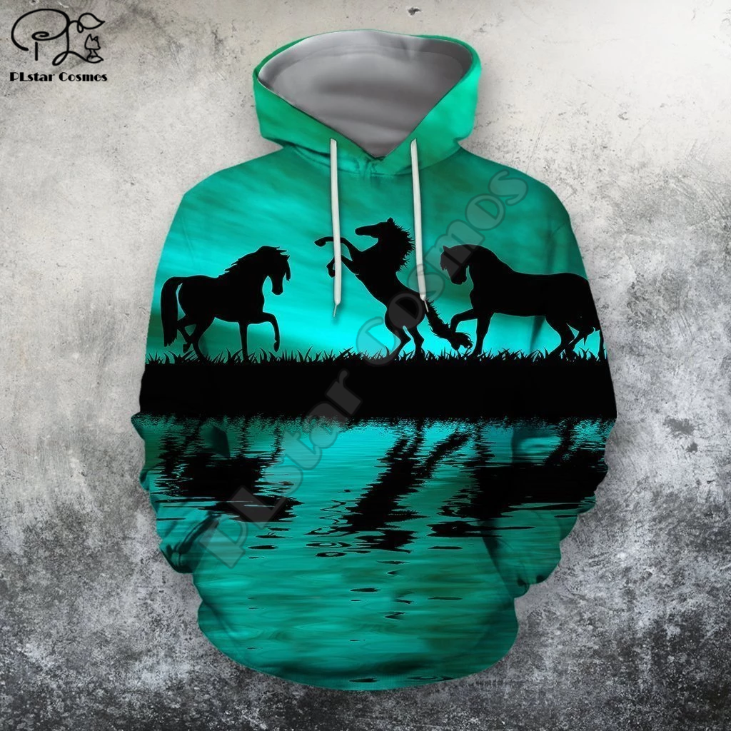 PLstar Cosmos Horse Art Animal Casual Harajuku Cartoon Tracksuit Pullover 3DPrint zipper/Hoodie/Sweatshirt/Jacket/Men/Women s-7