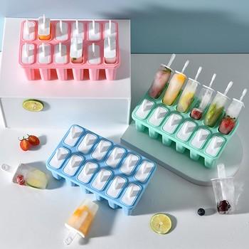 Formy do lodów 12 sztuk silikonowa tacka do lodu formy wielokrotnego użytku łatwe producenci lodów letnie narzędzia kuchenne do domu tanie i dobre opinie Pojemniczki na lody CN (pochodzenie) Na stanie Ice Mould Z tworzywa sztucznego CE UE