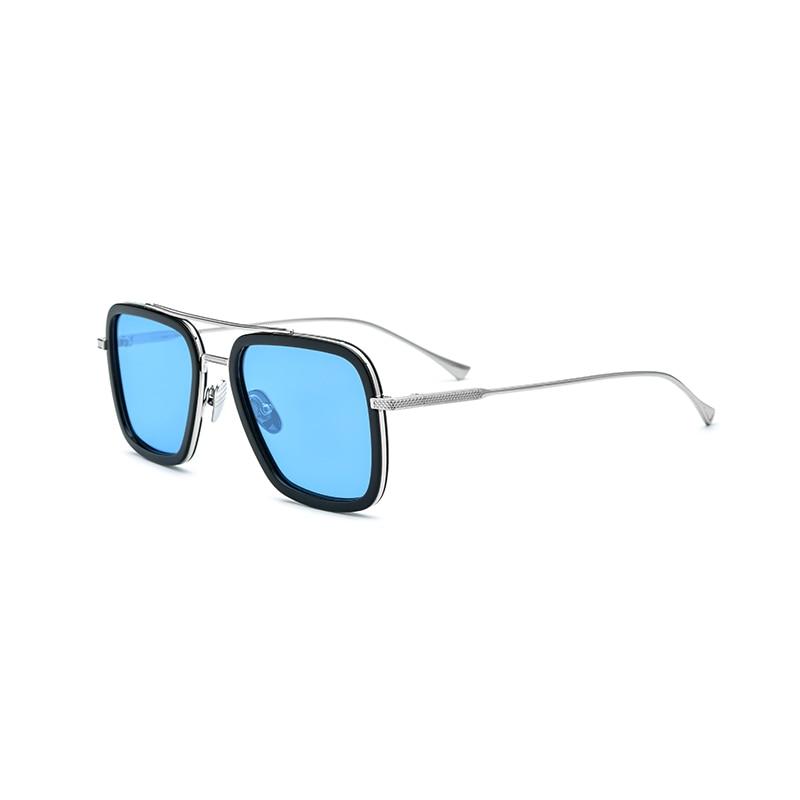 Acetate Of Polarized Sunglasses In Titanium Square Men's Steampunk Sunglasses New Way Of Avengers Tony Stark Men's Sunglasses