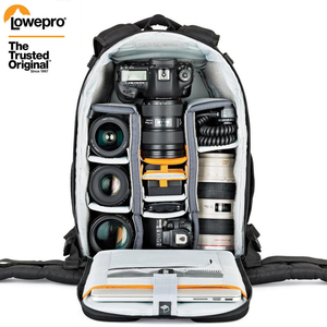 Image 1 - 도매 Gopro Lowepro Flipside 400 AW II 디지털 SLR 카메라 사진 가방 배낭 + 모든 날씨 커버 무료 배송