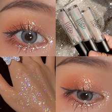Shiny Liquid Eyeshadow Eye Liner Pen Glitter Metallic Eyeliner Long Lasting Diamond Eyeshadow Party Pigmented Liquid Makeup Tool