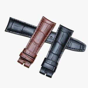 Image 4 - Мужские наручные часы из натуральной кожи аллигатора Pesno, ремешок для часов 20 мм, 21 мм, ремешок для часов Baume & Mercie