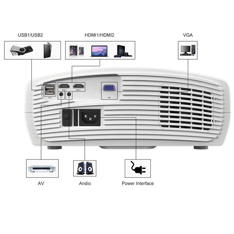 WZATCO C2 1920*1080P Full HD 45 degrés numérique keystone projecteur LED android 9.0 Wifi en option Portable maison Proyector Beamer - 3