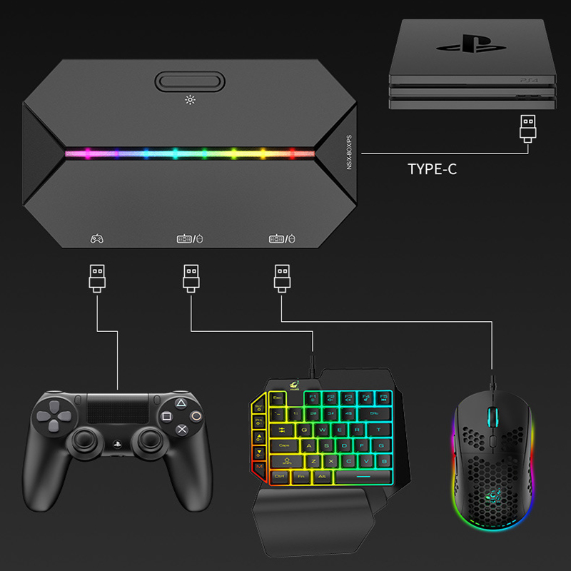 Switch Xbox PS4 Console Gamepad To Keyboard and Mouse Converter Gamepad for Nintendo Switch Console Keybord Mice Gaming Setup 6