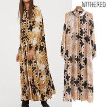 Увядшее английское винтажное нарядное платье с цепочкой, Женское Платье vestidos de fiesta de noche vestidos, свободное макси платье, блейзеры