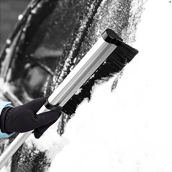 Usuwanie śniegu samochodu łopata artefakt szkło usuwanie śniegu narzędzie do usuwania rozmrażania usuwanie śniegu szczotka do usuwania odladzanie łopata skrobak do śniegu zima suppli tanie i dobre opinie CN (pochodzenie)