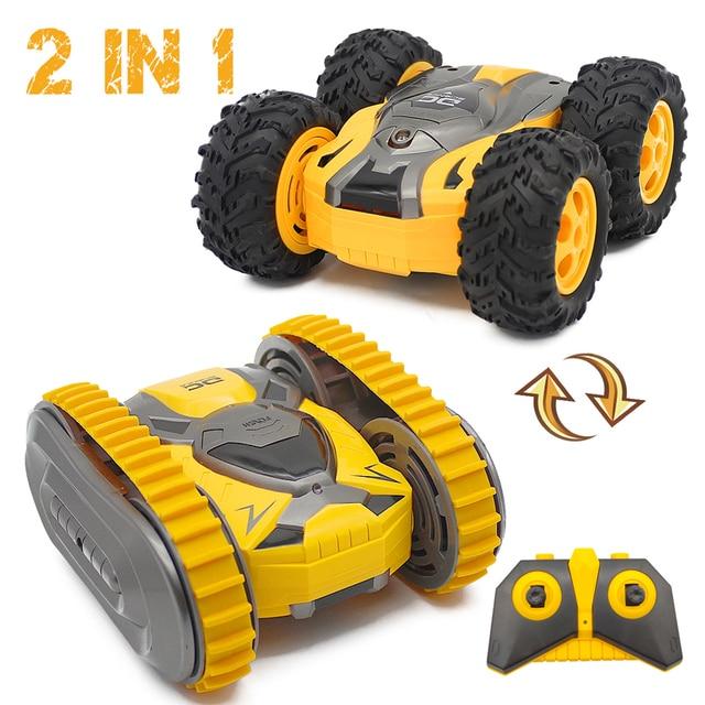 RC Car Mini Stunt Two-Side Drift Buggy Car 2.4G Crawler Roll Radio Remote Control Car 360 Rotation Tumbling Vehicle Boy Toy Gift 1