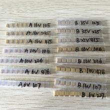 15 değer SMD tantal kondansatör ürün çeşitliliği seti 1uf 220uf A/B Case tantal kapasitör seti 1UF 2.2UF 4.7UF 10UF 47UF kondansatörler