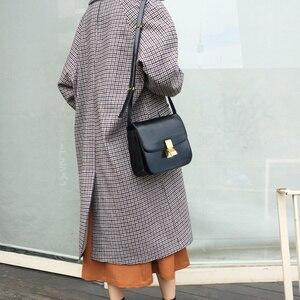 Image 2 - Vintage Women Shoulder Bags Designer Chic Flap Female Crossbody Bag Luxury Pu Leather Messenger Bags Fashion Lady Small Purses