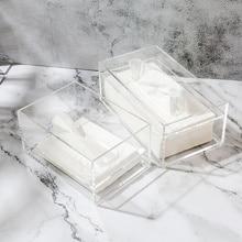 Акриловая коробка для салфеток для ванной комнаты, держатель для салфеток, диспенсер для салфеток или салфеток