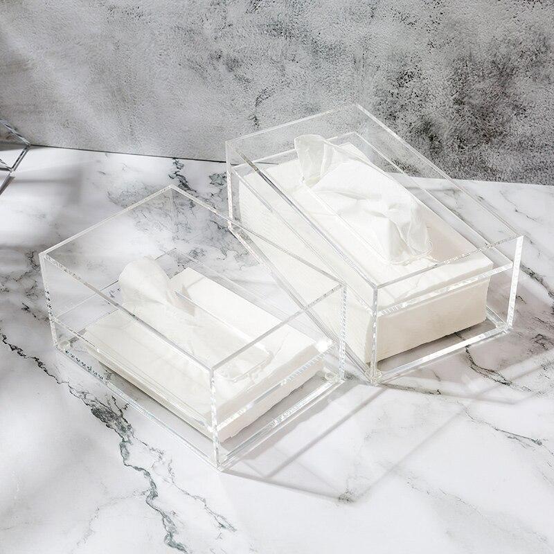 Bathroom Facial  Acrylic Tissue Box, Tissue Holder, Tissue Dispenser for Sheet Napkin or Tissue