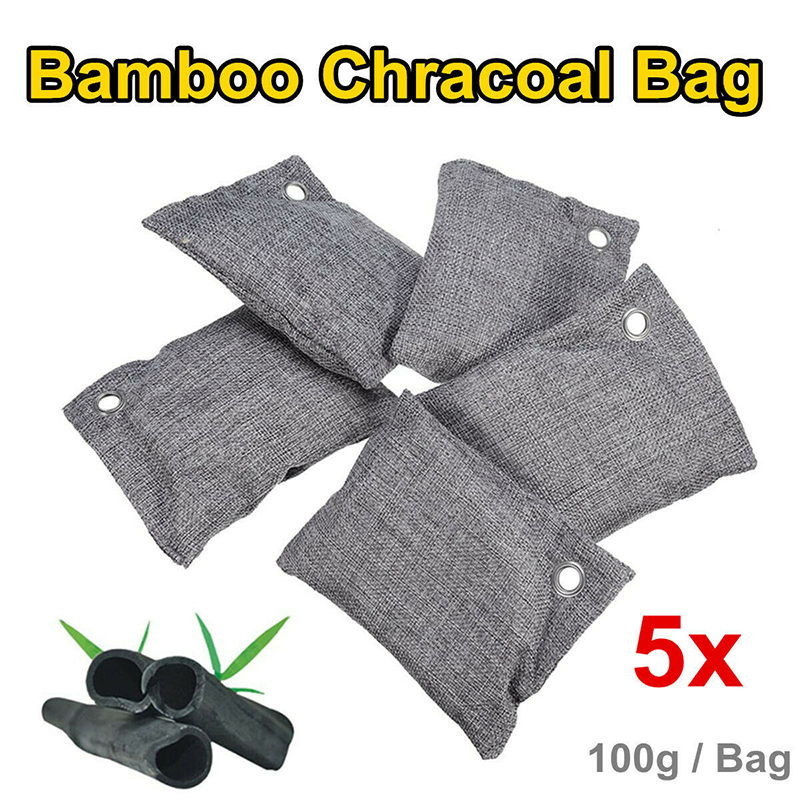 Nature Fresh Style Charcoal Bamboo Purifiers Mold Odor Air Purifying Bags Set