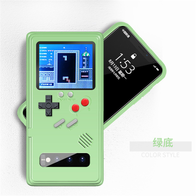 Rechargeable Full Color Display Game <font><b>Case</b></font> For <font><b>Samsung</b></font> Galaxy <font><b>S10</b></font> Plus Note 10 plus Retro Game Console Protection Cover coque image
