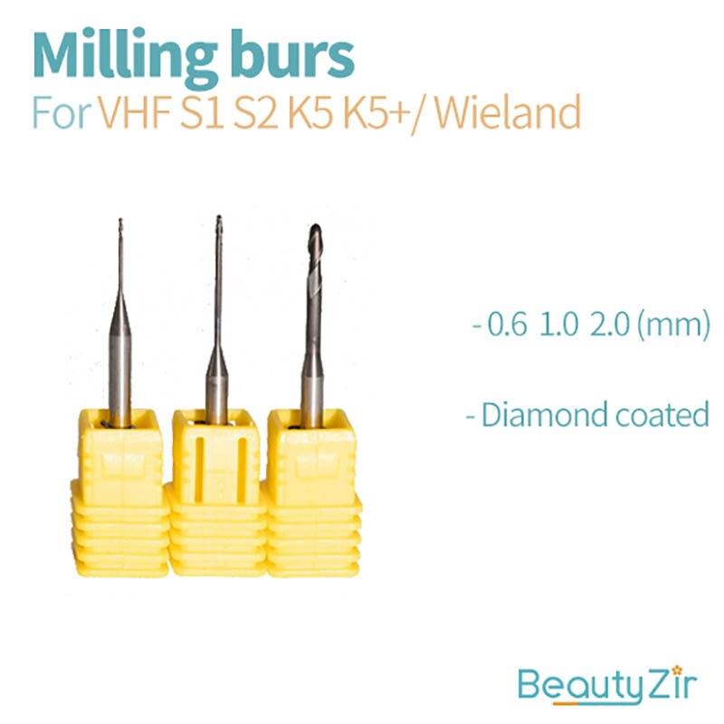 3 шт. VHF S1 S2 K5/K5 + сверла с циркониевым алмазным покрытием для фрезерного станка