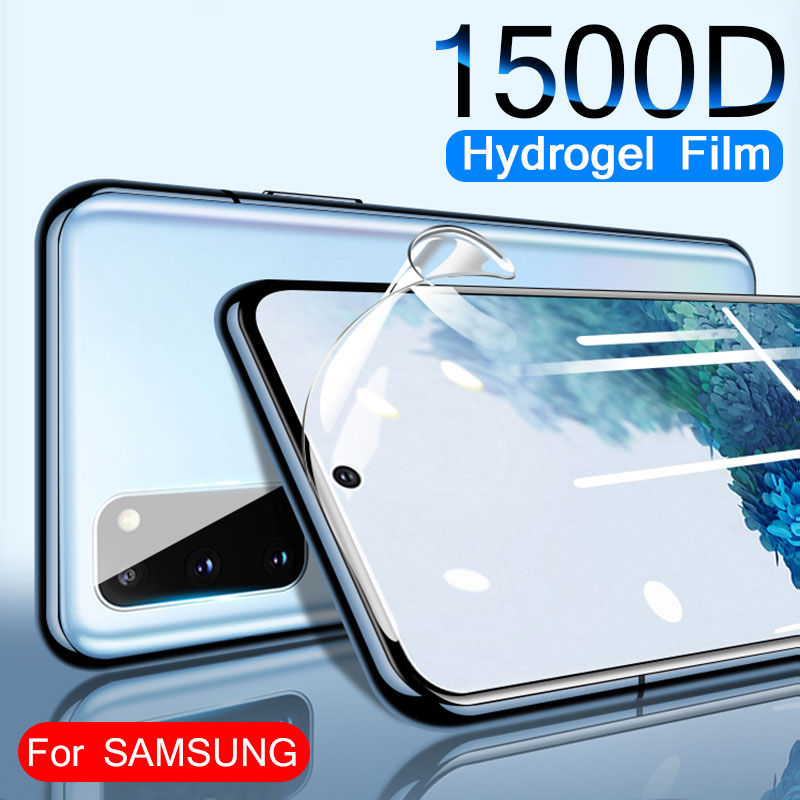 1500D Full Cover Screen Protector For Samsung Galaxy S20 Plus S9 S8 S10 S20 Ultra Soft Film On For Note 8 9 S10e Film Not Glass