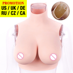 Crossdressing Fake boobs Artificial Silicone Breast Forms Prosthesis Tits For Shemale Trandsgender Drag Queen Cosplay BCDEG Cup(China)