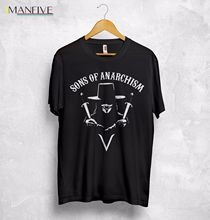 Sons of Anarchism T Shirt Top Anarchy Anonymous 4chan Hacktivism V for Vendetta худи print bar sons of anarchism