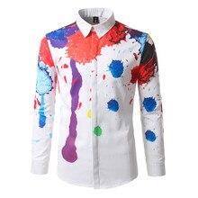 good quality casual long sleeve shirt slim fit fashion 2019 new 3d print mens cotton shirts