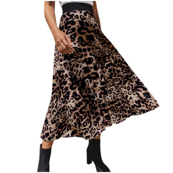 JAYCSOIN Sexy Women Skirt Women Leopard Print High Waist Skirt Ladies Evening Party Pleated Skirts Fashion Summer Mid Skirts