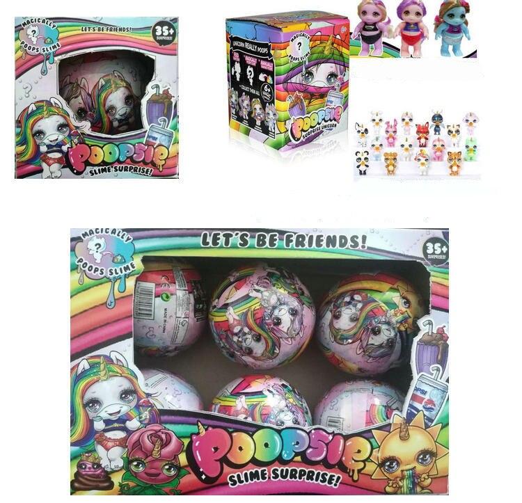 1/3/6 pçs mais novo lols bonecas diy boneca poopsie slimes unicórnio bonecas crianças brinquedos princesa lols boneca com presente brinquedos para meninas crianças