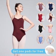 Женский балетный купальник, женский сексуальный купальник с вырезом, гимнастический купальник, балетные танцевальные костюмы
