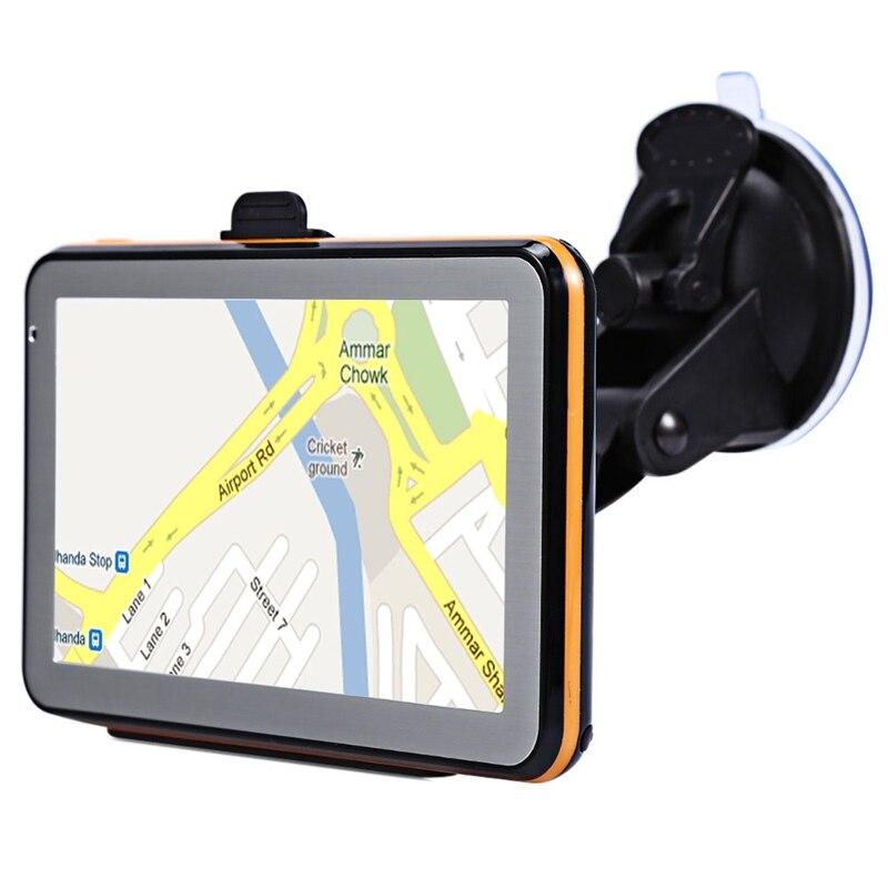 5 дюймов Автомобильный Gps навигатор сопротивление Экран Пресс Экран 8G 256Mb Mp3/Mp4 голос вождения навигационное устройство Карта Европы