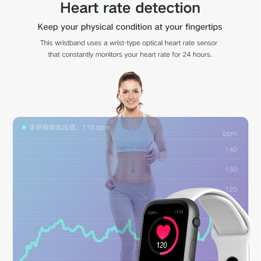 Women Smart Watch Heart Rate IP67 Waterproof Bluetooth ladies Sport Smartwatch Whatsapp Android  for For Apple Xiaomi Huawei