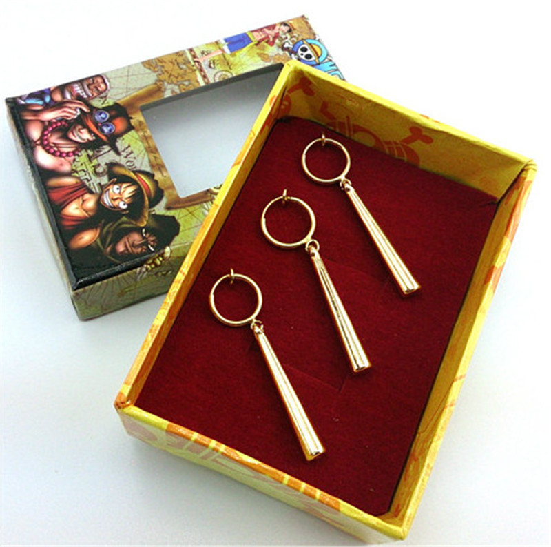 One Piece Earring Roronoa Zoro Earring Cosplay Costume Accessory with hole Gift