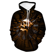 LISN Halloween fashion hoodie 3D printing skull party pattern print men and women couple models casual sweatshirt